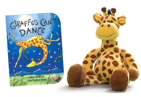 Geri Giraffe Stuffed Animal with Giraffes Can't Dance Board Book Baby & Toddler Gift Set