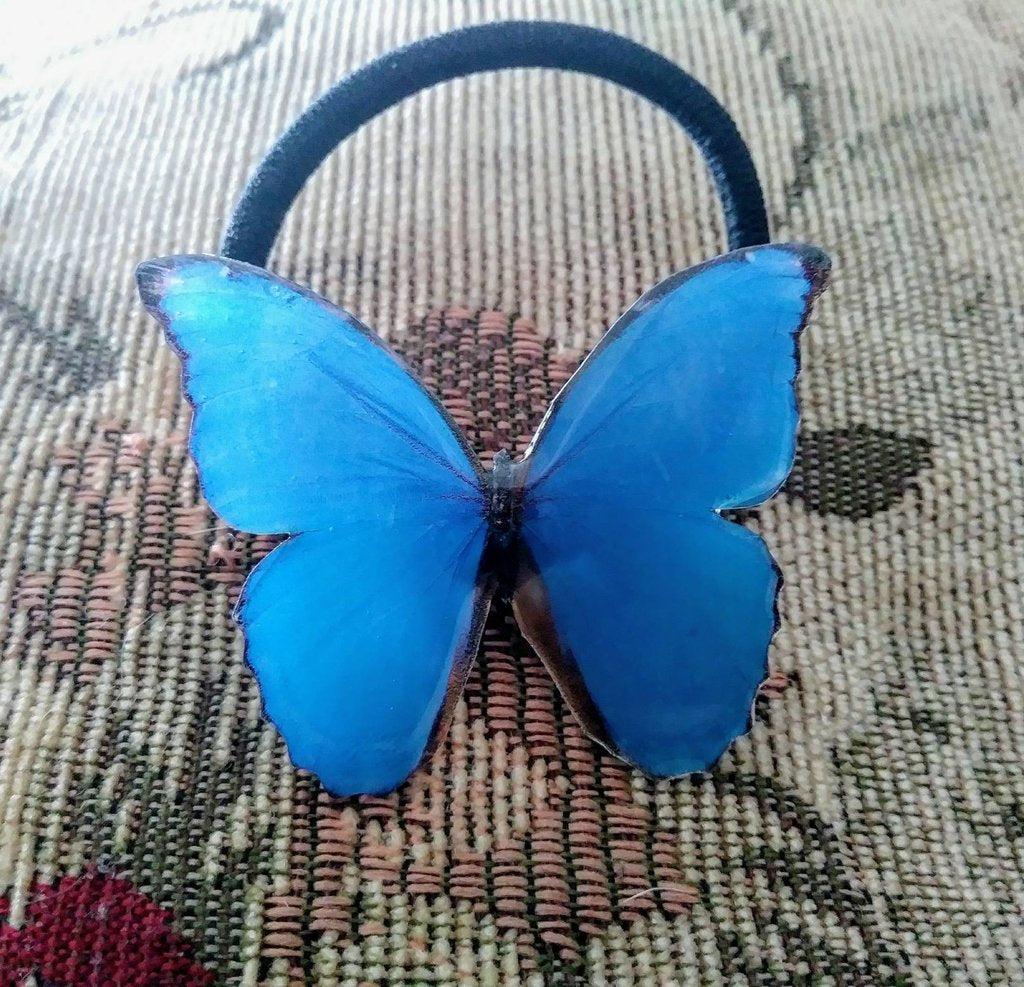 Large butterfly or moth hair tie