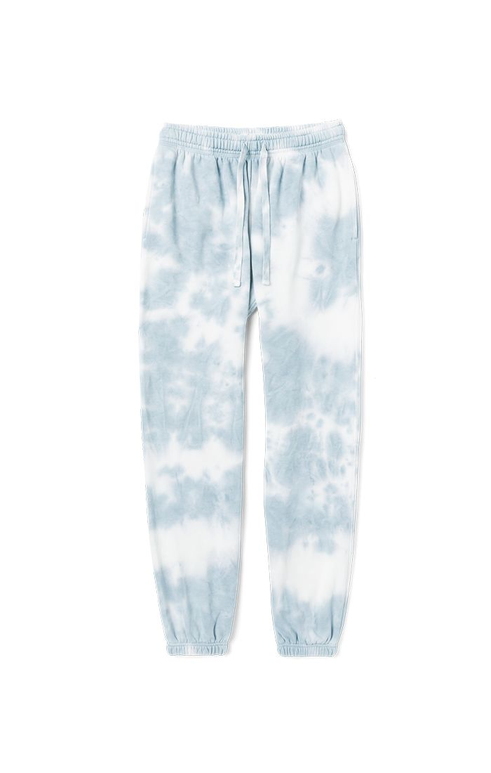 RECYCLED CREW SWEATPANTS / TIE DYE