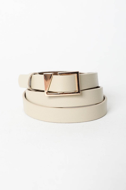 Asymmetrical Buckle Cinch Waist Fashion Belt