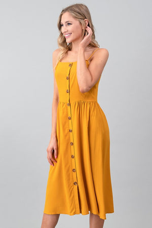 BUTTON DOWN WOVEN CAMI DRESS