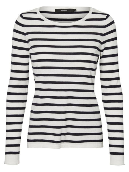 SOFIA BOAT NECK BLOUSE WITH STRIPES