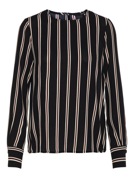 STRIPED L/S TOP