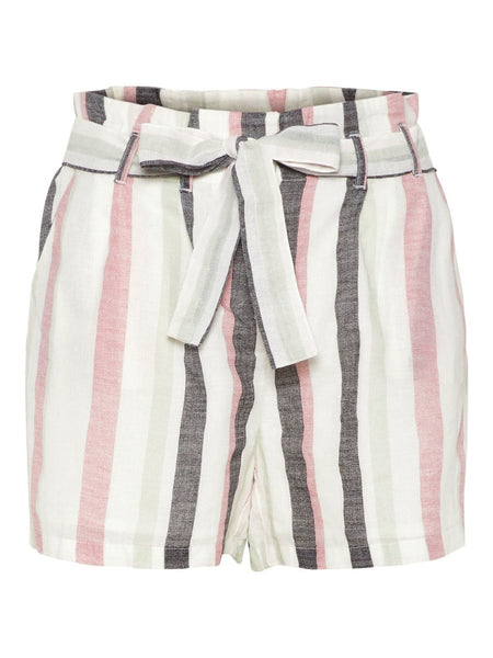 STRIPED PAPERBACK TAVI SHORTS