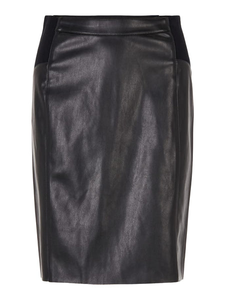 BUTTERSIA HW FAUX LEATHER SKIRT