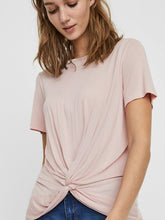 Load image into Gallery viewer, REBEKKA SS KNOT TEE - Sepia Rose