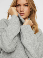 Load image into Gallery viewer, BERKO TURTLE NECK KNIT / LIGHT GREY