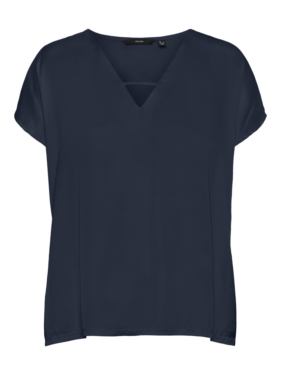GLEE V-NECK TOP SS // NAVY BLAZER