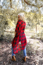 Load image into Gallery viewer, LIGHTWEIGHT BUFFALO CHECK KIMONO