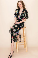 Load image into Gallery viewer, FLORAL ASYMMETRICAL DRESS
