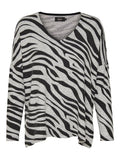 SOFT GREY ZEBRA PULLOVER