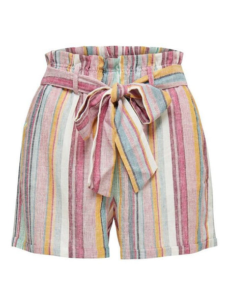 RHONDA STRIPE PAPERBAG SHORTS