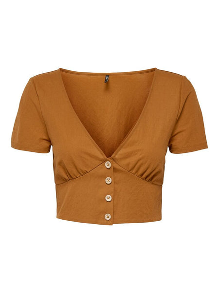 JANY CROPPED TOP WITH FRONT BUTTONS