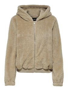 ANNA CONTACT SHERPA ZIP UP HOODIE