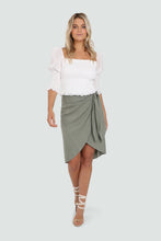 Load image into Gallery viewer, SIREN SKIRT - KHAKI