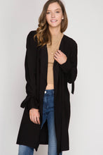 Load image into Gallery viewer, L/S TRENCH COAT W/ SLEEVE TIES