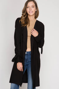 L/S TRENCH COAT W/ SLEEVE TIES