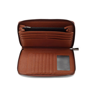 PEBBLE LARGE WALLET - COGNAC