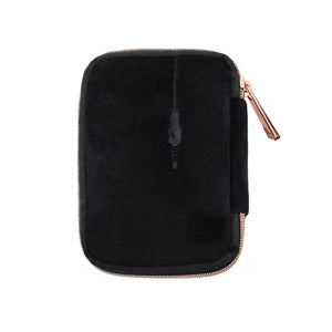 VIXEN EARBUD CASE - BLACK  (velour finish)
