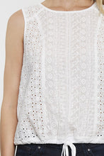 Load image into Gallery viewer, EYELET LOOSE FIT TANK W/WAIST TIE