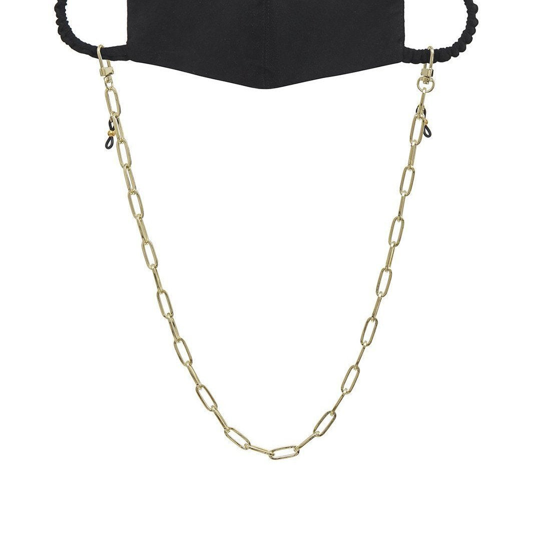 PAIGE FACE MASK CHAIN - YELLOW GOLD