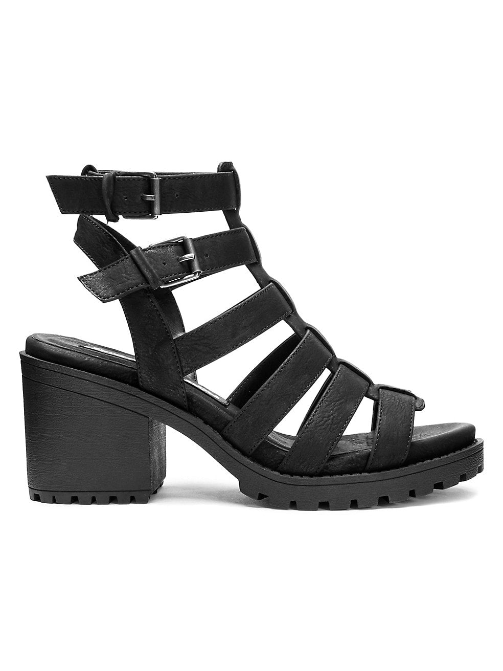 FUN STUFF GLADIATOR SANDALS / BLACK