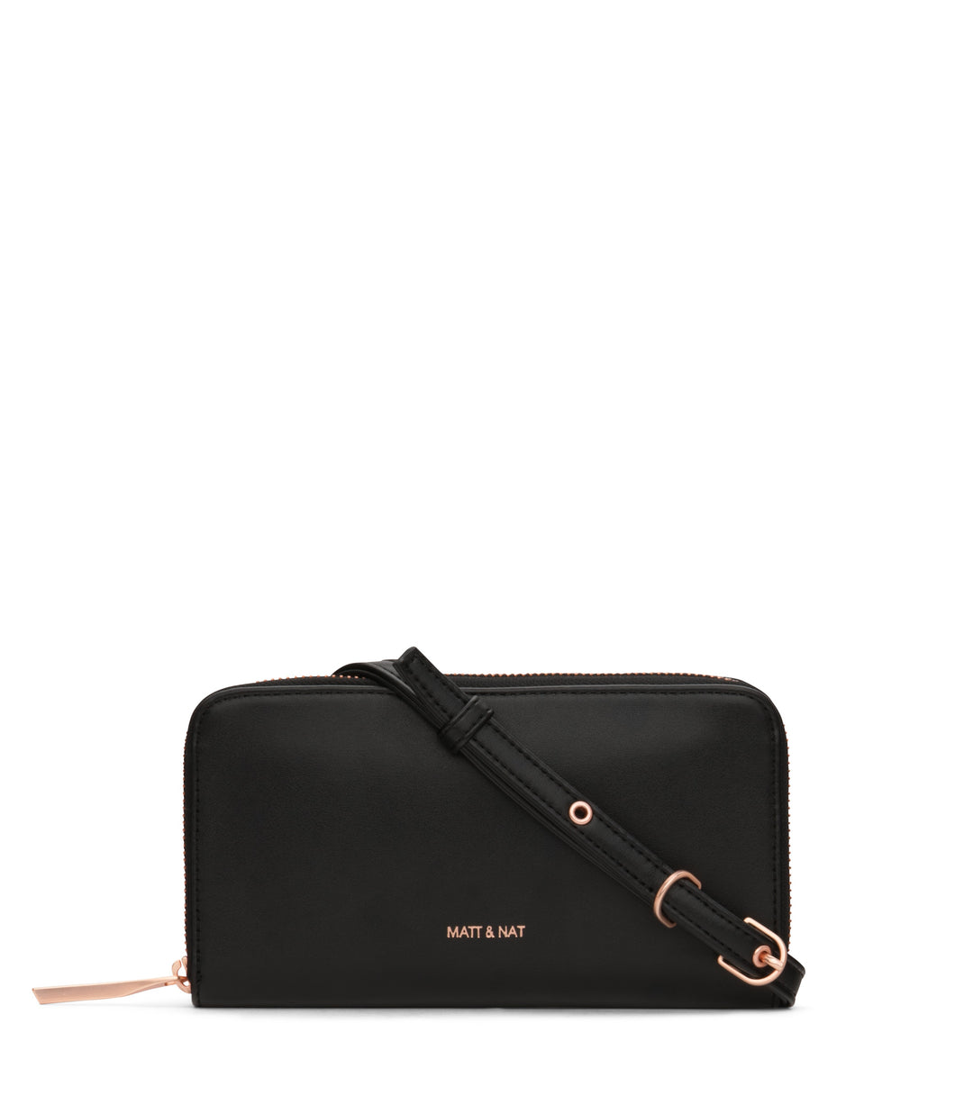 INVER Crossbody Wallet - Black Rose Gold