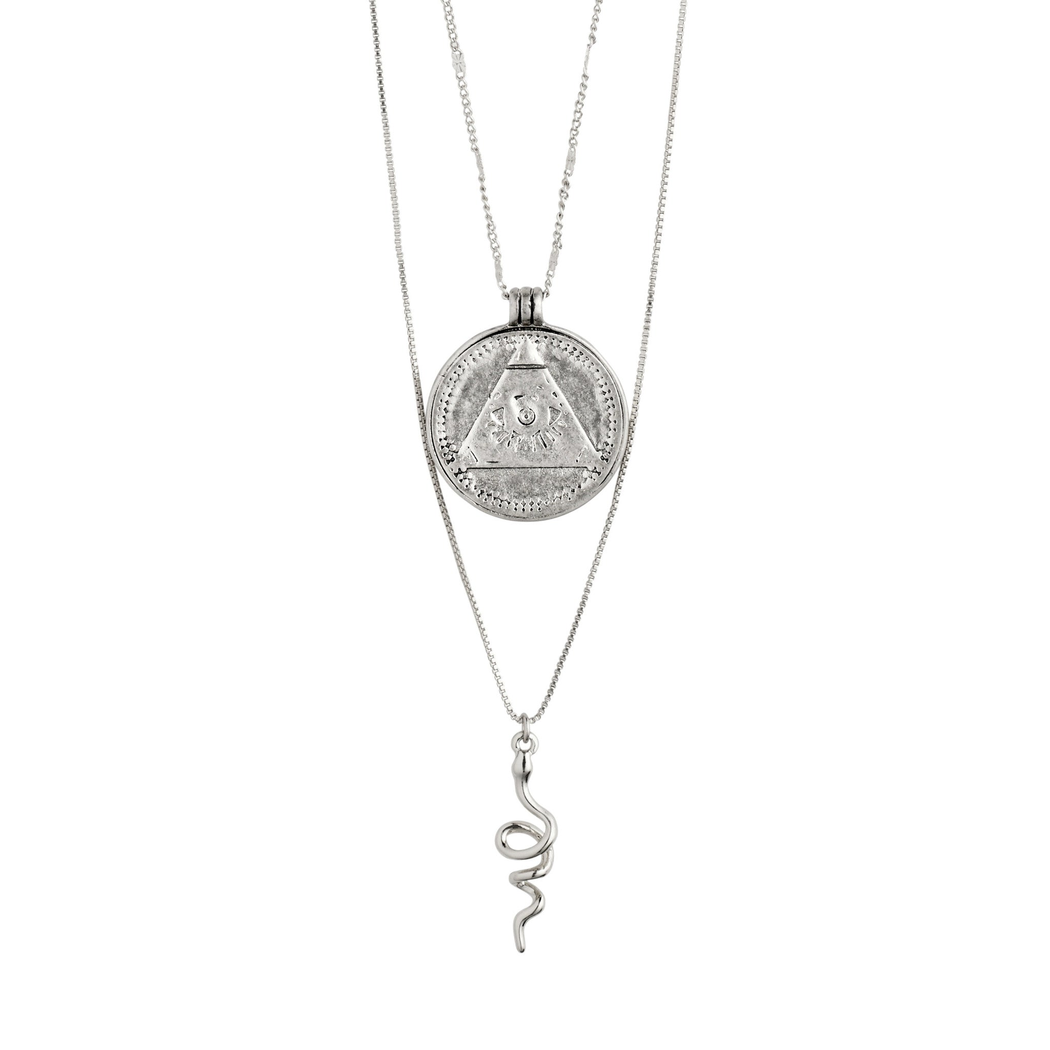 Pilgrim Sensitivity 2-in-1 Necklace // SILVER