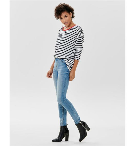 STRIPE 3/4 SLEEVED TOP