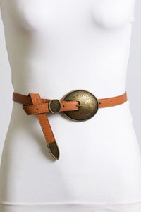 OVAL VINTAGE STYLE BUCKLE BELT