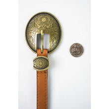 Load image into Gallery viewer, OVAL VINTAGE STYLE BUCKLE BELT