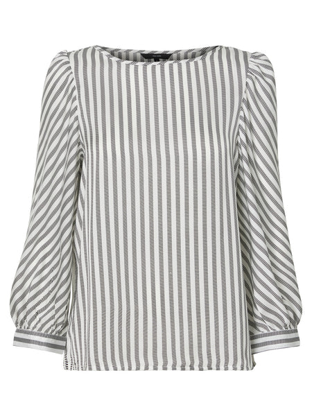 BRITT WHITE STRIPE TOP