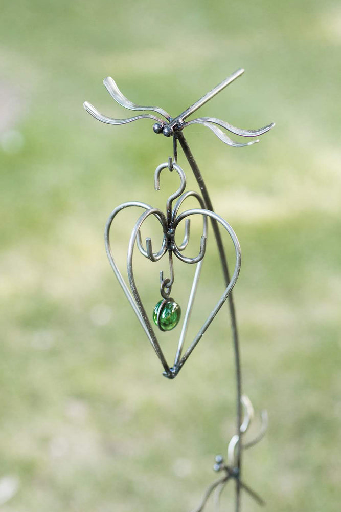 Dragonfly Silverware Garden Stake with Hook