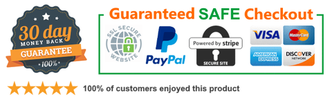 trust badge secure shopping with 30 day returns and amazon 2 day fast shipping