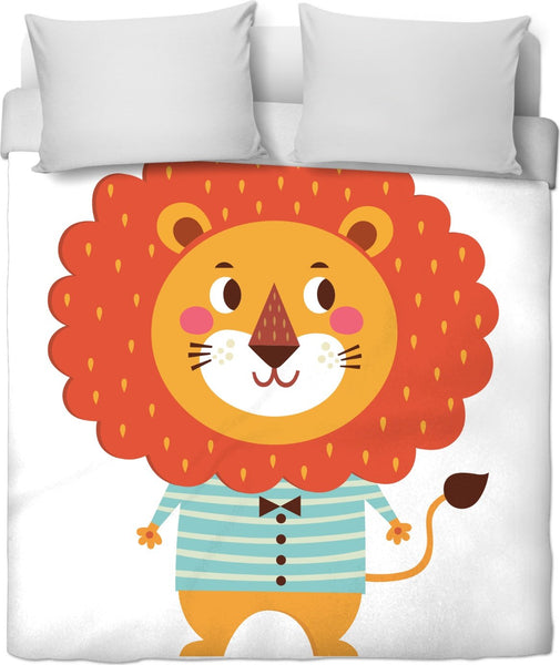 Liam Lion Duvet Cover Set - mhyplace