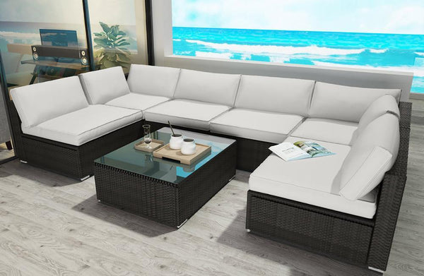 Modern 7 Piece Outdoor Furniture Set - mhyplace