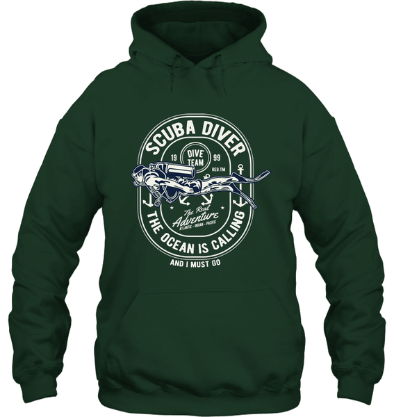 Sanity Shirts - Scuba Diver Hoodie - mhyplace