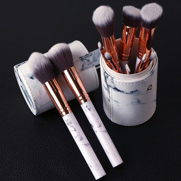 Marble Multifunctional Makeup Brush Set