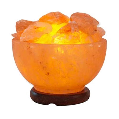 Himalayan Salt Bowl Of Fire Lamp
