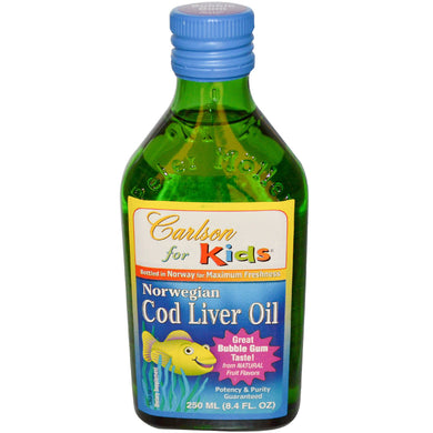 Cod Liver Oil  Bubble Gum Taste  250 ml