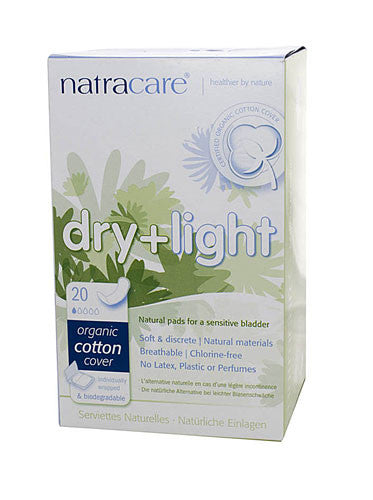 Dry + Light Natural Pads for Sensitive Bladder 20