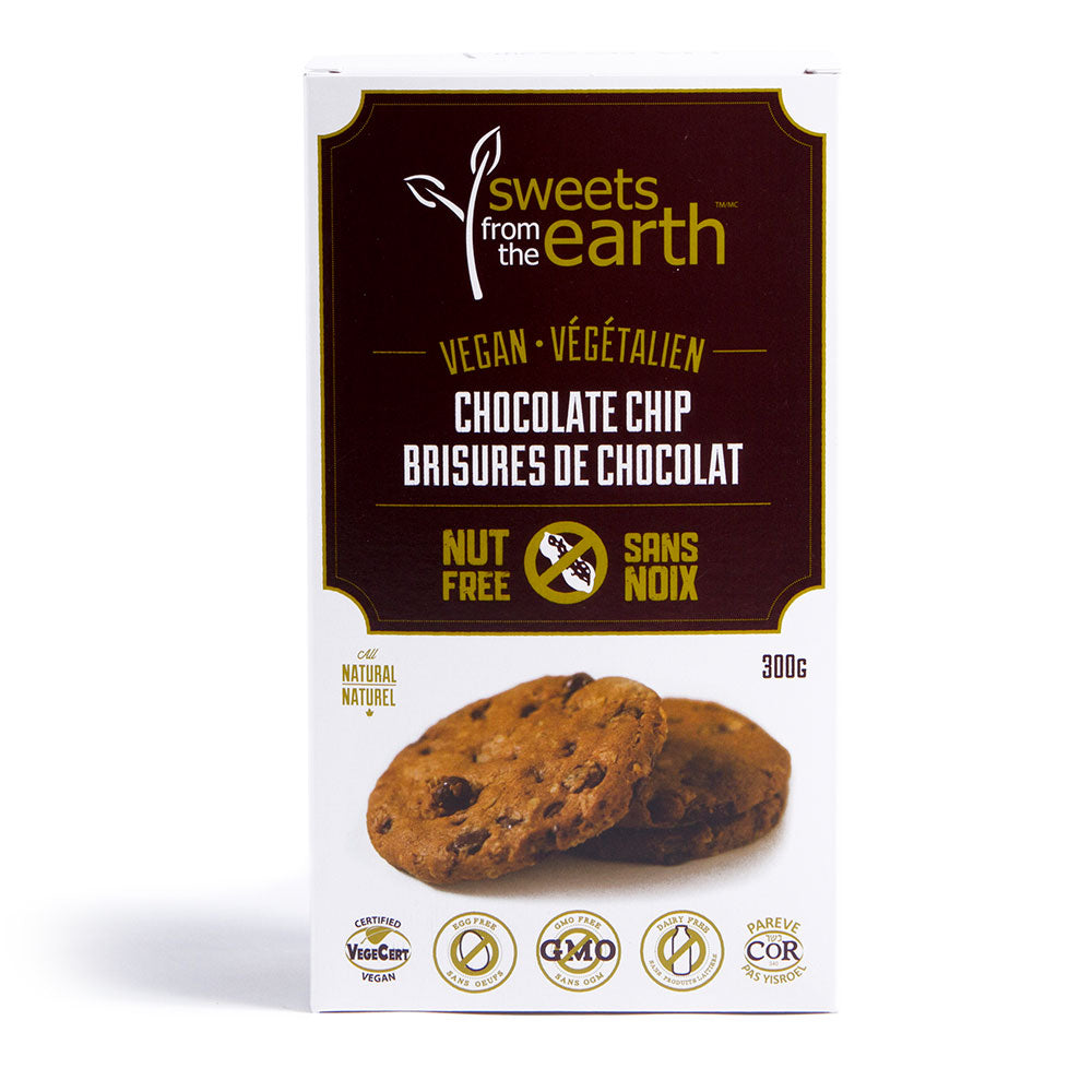 Sweets from the Earth Vegan & Nut Free Chocolate Chip Cookies