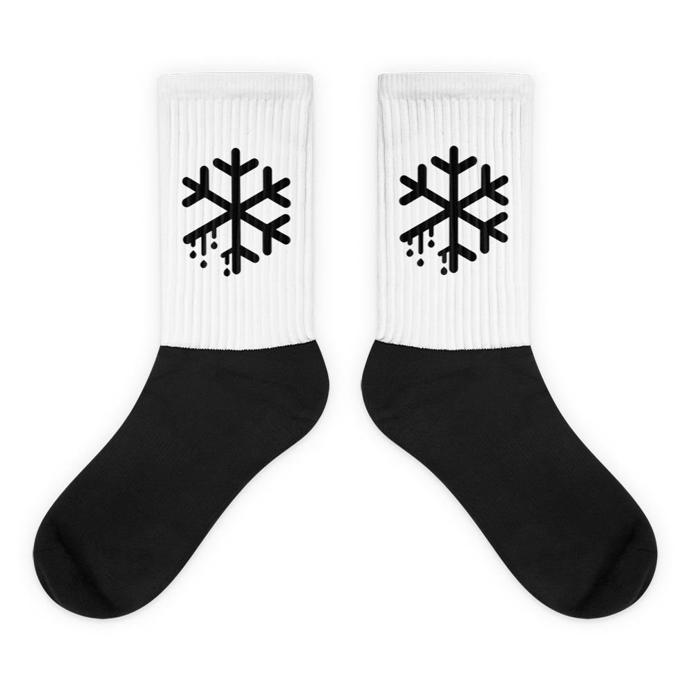 Melting snowflake socks