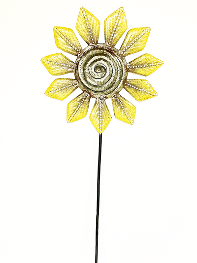 Sunflower Garden Stake Painted Metal