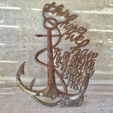 Anchor Hope Metal Sign