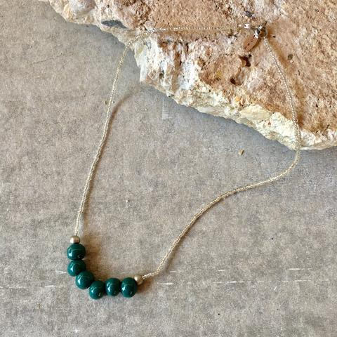 Clivia Teal Green Necklace