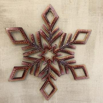Snowflake Metal Sign