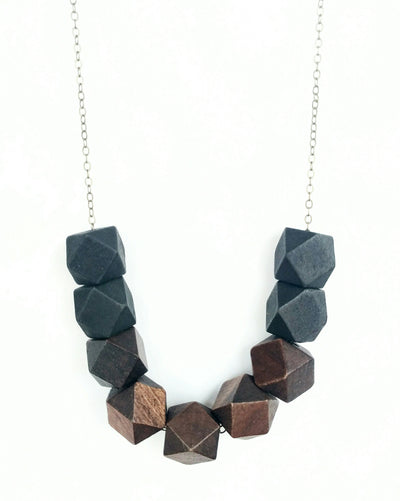 Roxy Necklace in Black and Brown