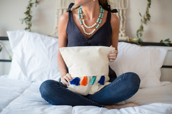 Colorfully Caribbean Pillow