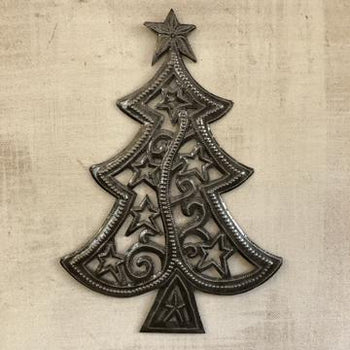 Whimsical Tree Metal Sign